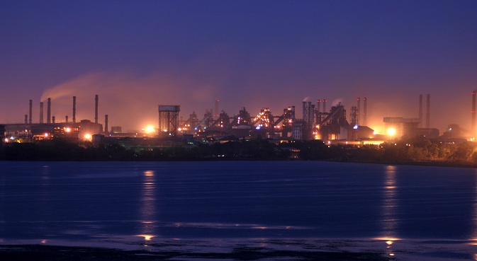 Night view of Bhilai Steel Plant. Source: Press Photo