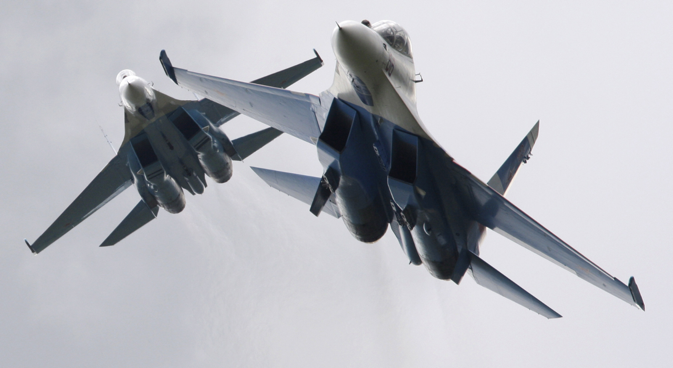 While the Flanker's manoeuvrability is legendary, its long range also comes into play in aerial combat. Source: Anton Denisov / RIA Novosti