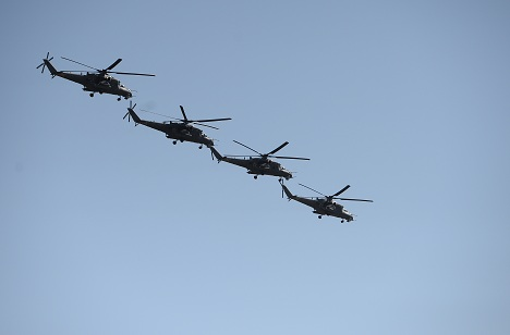 The first lot of Mi-35P combat helicopters was supplied to Indonesia in September 2003 and three more September 2010.