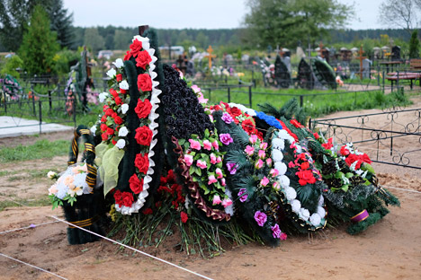 Correspondents found two fresh graves in a cemetery on the outskirts of Pskov containing the bodies of servicemen from the Pskov Airborne Forces. Source: Reuters