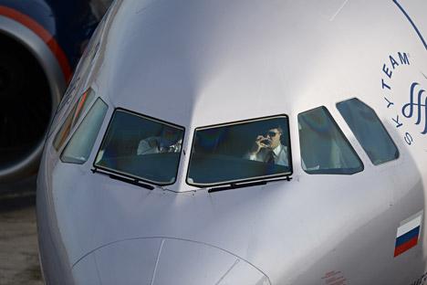 National carrier Aeroflot recruits 80 new staff, mostly from Western Europe. Source: Alexandr Kryazhev / RIA Novosti