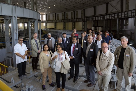 Mridupawan Deka, an Indian researcher at the Laboratory of Theoretical Physics in Dubna, at the India-JINR Forum held in June 2014 (4th from the right). Source: Press Photo
