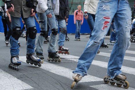 Rollers on Moscow streets. Source: ITAR-TASS