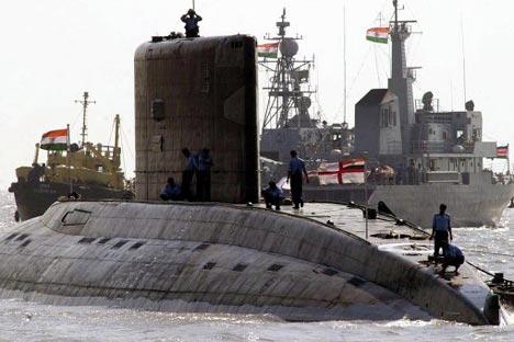 Since 1997, Zvezdochka has modernised five Indian diesel-electric submarines - Sinduvir, Sinduratna, Sindugosh, Sinduvijay and Sindurakshak. Source: AFP/ Sebastian D'Souza