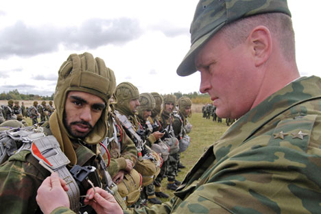 Indra is a joint military exercise conducted by India and Russia that began in 2003. Source: RIA Novosti / Mikhail Mordasov