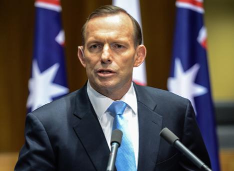 "The Australian Prime Minister was to ""shirt-front"" Vladimir Putin. Source: Photoshot / Vostock Photo"
