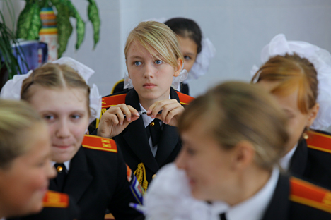 The Military Girl Boarding School. Source: Ilya Pitalev / RIA Novosti