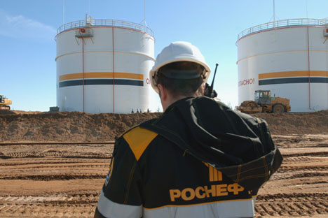 Rosneft will hold the majority in the project. Source: Vladimir Vyatkin / RIA Novosti