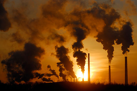 80 percent of all of Russia's emissions is carbon dioxide from the burning of coal, oil and gas. Source: Reuters