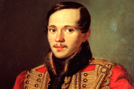 Portrait of the poet Mikhail Lermontov by Petr Zabolotsky. Source: FineArt images