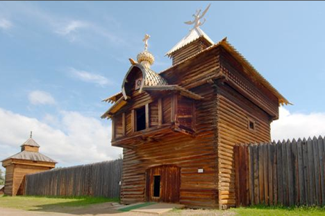 Wooden church in Taltsy open-air museum in Angara. Source: Lori / Legion-Media