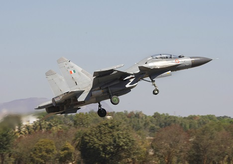 The Su-30 MKI, NATO reporting name Flanker-H, is the IAF's elite fighter-bomber. Source: AP