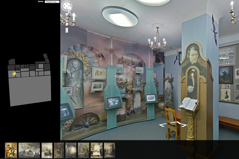 Inside the Nikolay Gogol's house, Memorial Museum in Moscow. Source: Google