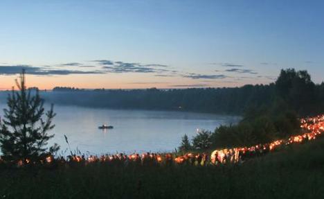 Midsummer in the Nizhny Novgorod region on the shores of Lake Svetloyar. Source: Roman Yarovitsyn / TASS