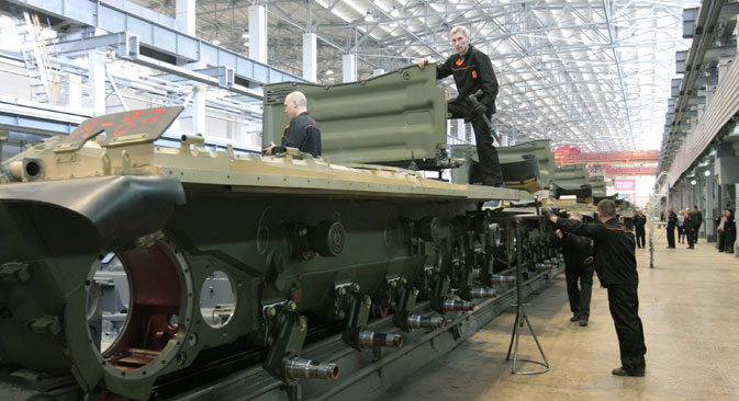25 percent of production of military enterprises account today for civilian use. Source: Sergey Mamontov / RIA Novosti