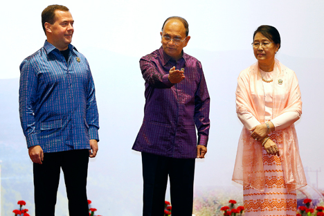 Dmitry Medvedev in Myanmar for the East Asia Summit.