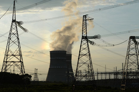 Measures are being developed to protect nuclear, thermal and hydroelectric power stations. Source: RIA Novosti/Konstantin Chalabov