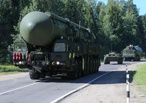 A Yars ballistic missile. Source: Rossiyskaya Gazeta