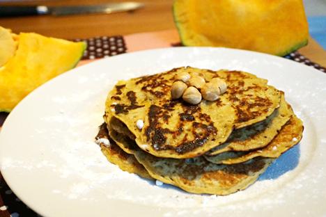 Pancakes from pumpkin puree. Source: Anna Kharzeeva