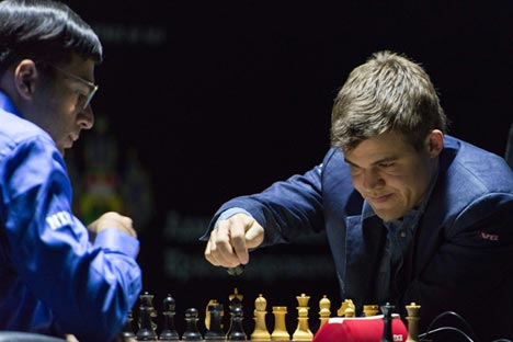 Carlsen won his second world championship in a row. Source: Rossiyskaya Gazeta