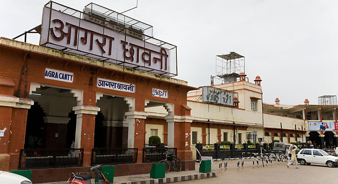 The Agra Cantonment railway station will have a MTS Wi-Fi hotspot. Source: Alamy Images