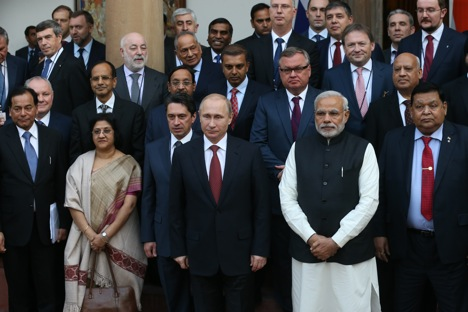 The two leaders Narendra Modi and Vladimir Putin are not only popular, but also have common aspirations to make their nations great. Source: Konstantin Zavrazhin / RG