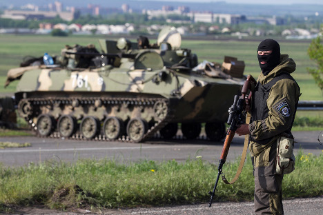The withdrawal of heavy weaponry from front lines in eastern Ukraine is one of the topics being discussed at talks in Minsk on Dec. 24-26. Source: Reuters