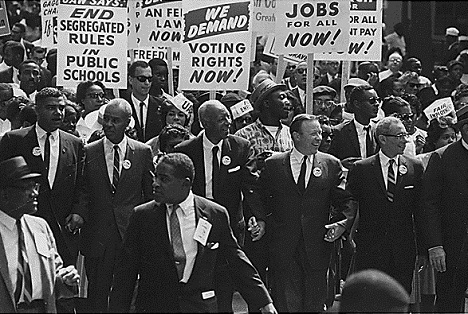 Civil Rights March on Washington in 1963 called for civil and economic rights for African Americans. Source: wikipedia.org