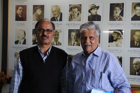 Vidyashankar N Jois (l) and S.V.Rajendra Singh Babu. Source: Alessandro Belli