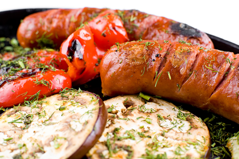 Sausages can be cooked in different ways - boiled, grilled - and served with different vegetables. Source: Lori / Legion Media