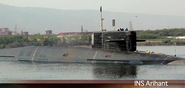 The first clear image of INS Arihant, taken by NDTV. Photo: NDTV snapshot