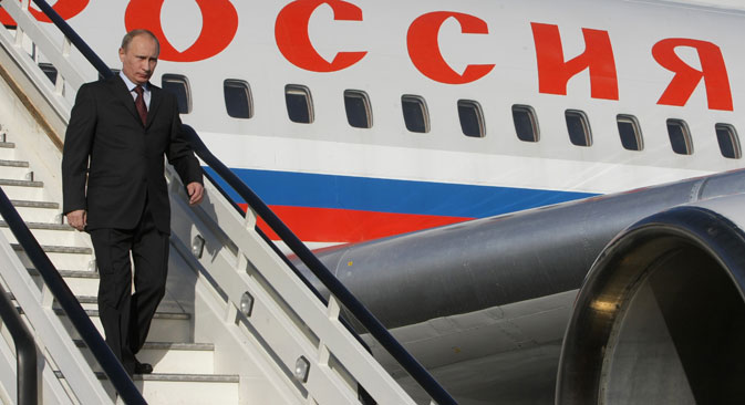 Vladimir Putin plans to land at the Palam Air Force base in New Delhi this evening. Source: Alexey Nikolsky / RIA Novosti
