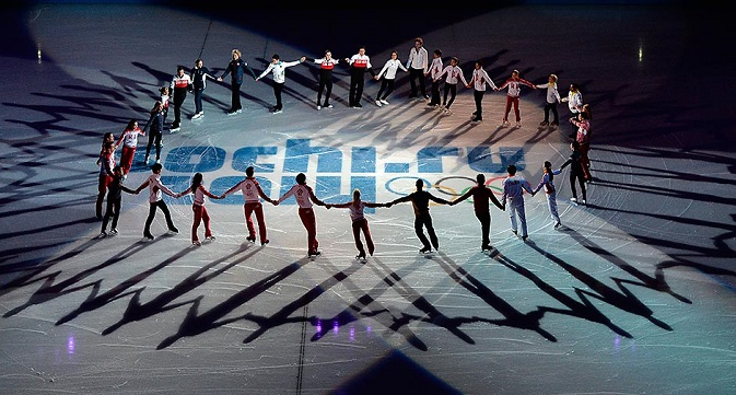Skaters during performances at the XXII Olympic Winter Games in Sochi. Source: Alexander Wilf / RIA Novosti