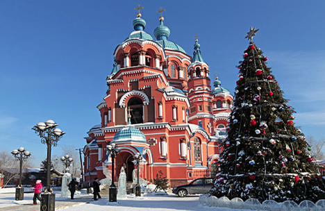 The most famous temple of Irkutsk designed in neo-Byzantine style. Source: Shutterstock/Legion-Media
