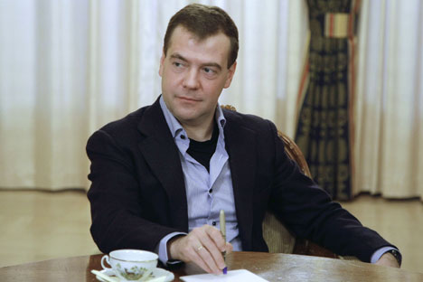 Medvedev said it was necessary not only to establish political interaction but also to work on new financial institutions, such as a development bank and a pool of BRICS currency reserves. Source: DPA / Vostock Photo