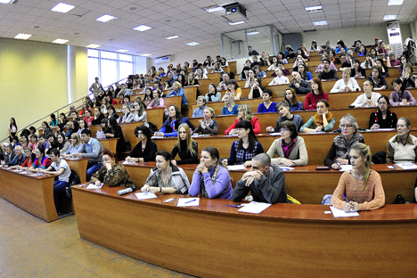 The 5-100 Federal Program of University Support includes the participation of 15 Russian universities. Its aim is for five Russian universities to feature in the international rating's top 100 by 2020. Source: Yury Smituk / TASS