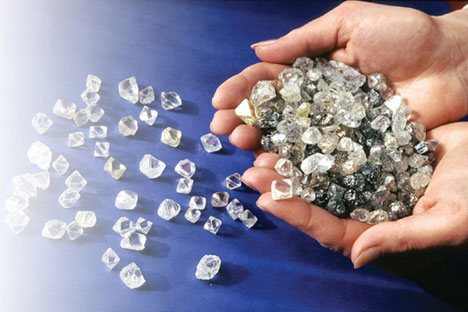 India is the world's largest centre for processing diamonds, with more than 70 percent of the world's extracted diamonds sent there for cutting. Source: Press photo