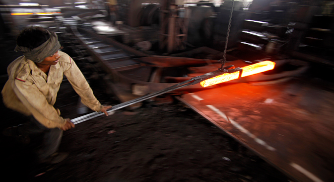 India's position on the international steel market is also under threat. Source: AP
