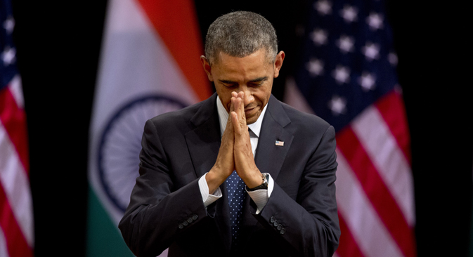 Obama is on a state visit to India from January 25 to 27. Source: AP