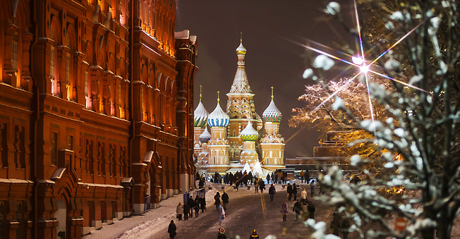 A view of the snow covered St. Basil Cathedral in Moscow's Red Square. Source: Marina Lystseva / TASS