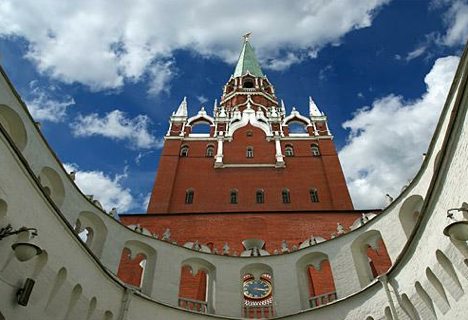 Trinity (Troitskaya) tower of Moscow Kremlin, where recording studio of the Presidential Orchestra is hidden. Source: Lori/Legion-Media