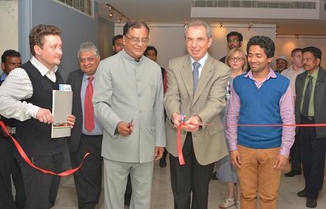 Adarsh Kumar Sinha (r), Sergey Karmalito (second right) and K.K. Chakravarty (second left). Source: RCSC