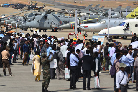 The Aero India-2015 air show was held February 18-22. Source: AP