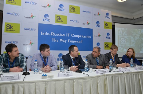 Russian delegation at IndiaSoft-2015. Source: Skolkovo innovation center