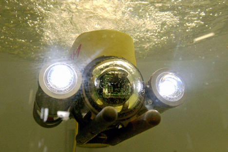 The underwater robot was tested in 2005 in the Baltic. Source: Yuri Mashkov / TASS
