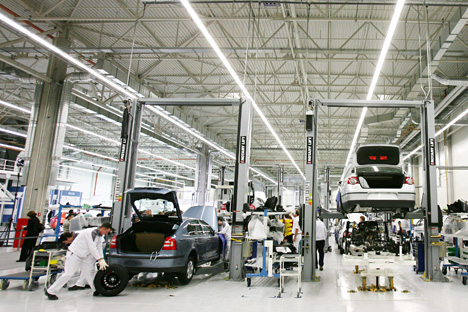 The plan to increase production for exports to wider markets is an unprecedented step for foreign car manufacturers based in Russia. Source: DPA/Vostock-Photo