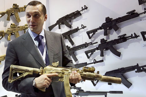 Alexei Krivoruchko, Kalashnikov Concern CEO. Source: Reuters