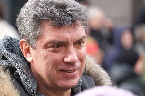 Boris Netmsov at an opposition protest in February 201 Source:Ilya Schurov / Wikipedia.org