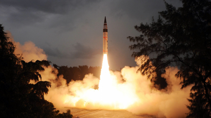 Agni V strategic missile. Source: Photoshot