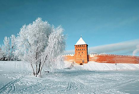 Walls of the Novgorod Kremlin. Source: Lori/Legion-Media